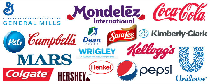 well known CPG brand logos